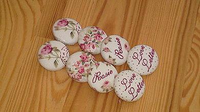 Materiál ručne robený - buttonkové knoflíky romantické - 5891513_