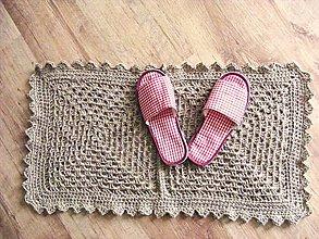 Úžitkový textil - Natur jutový koberček - 5892328_