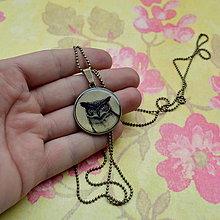 Náhrdelníky - Sůvy - náhrdelník 25 mm - 5892091_