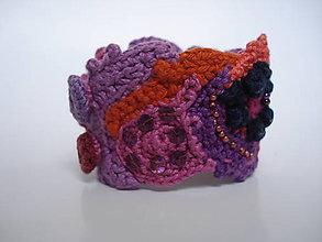 Náramky - FREEFORM crochet náramok Bohemian style - 5892938_