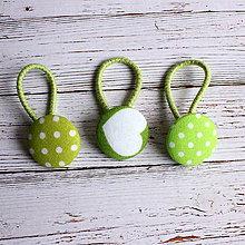 Detské doplnky - DETSKÉ gumičky do vlasov s buttonkami Jabĺčkové - 5893994_
