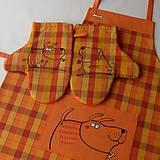 Úžitkový textil - ŇAFÍCI - zástěra a chňapky - 5891839_
