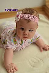 Ozdoby do vlasov - Ružová - bábo čelenka - 5894605_