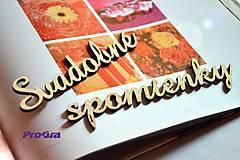 Tabuľky - Svadobné spomienky - rezaný nápis - 5895172_