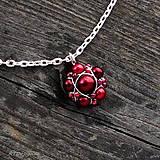 Náhrdelníky - Náhrdelník RED WINE - 5893573_