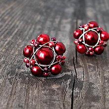 Náušnice - Náušničky RED WINE - 5893551_