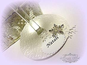 Papiernictvo - Lady Winter - menovka na pohár - 5891415_