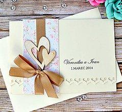 Papiernictvo - Svadobné oznámenie Vintage - 5894131_