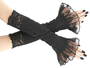 Rukavice - Dámske čierne rukavice 0500-02 - 5898155_