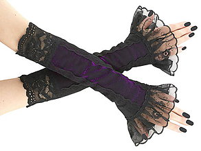 Rukavice - Dámské spoločenské  rukavice , návleky 0500-01 - 5898172_