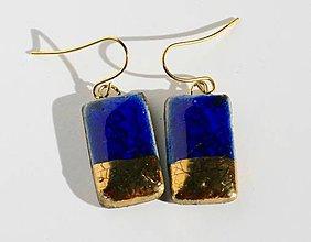 Náušnice - modré obdĺžničky II. - 5895558_
