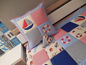 Textil - vankúš 40 x 40 cm pre detičky - 5897192_