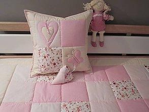 Textil - vankúš 40 x 40 cm pre detičky - 5897279_