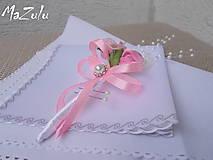 Pierka - svadobné pierko v ružovom - 5895656_