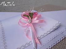 Pierka - svadobné pierko v ružovom - 5895657_