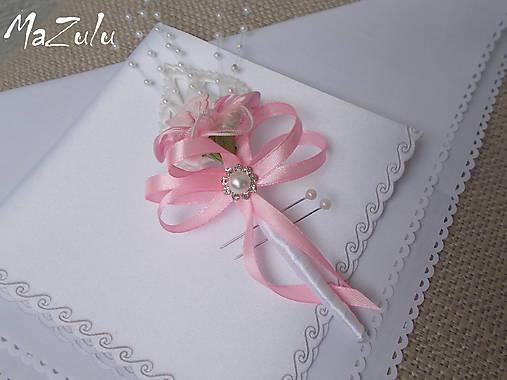 svadobné pierko v ružovom
