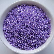 Korálky - MIYUKI 15/0-Dyed Lilac Silverlined Alabaster-5g - 5898090_