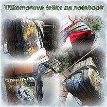 Na notebook - Taška na notebook 16, 17'' - vzorek Travel office - 5896434_