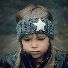 Detské čiapky - Háčkovaná čelenka ...