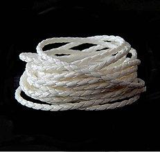 Galantéria - Remienok pletený, biely 2,5mm /0,5m - 5899262_