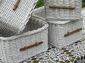 Košíky - Biely kupelniačik - 5901124_