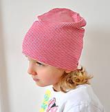 Detské čiapky - detská čiapočka pásik - 5899695_