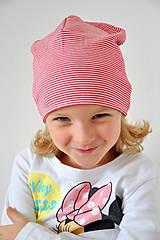 Detské čiapky - detská čiapočka pásik - 5899699_
