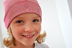 Detské čiapky - detská čiapočka pásik - 5899712_