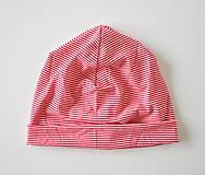 Detské čiapky - detská čiapočka pásik - 5902049_