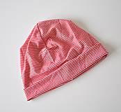 Detské čiapky - detská čiapočka pásik - 5902051_