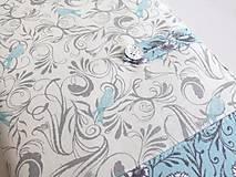 Papiernictvo - Něžně romantičtí ptáčci - obal na knihu - 5901879_