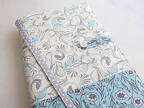 Papiernictvo - Něžně romantičtí ptáčci - obal na knihu  - 5901875_