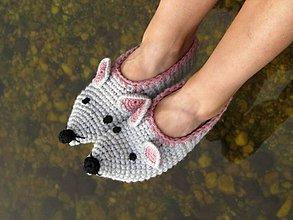 Obuv - Myškové papuče - 5900124_