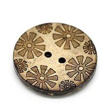 Galantéria - Kokosový gombík 3cm - 5900513_