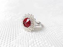 Wild cherry ring (Swarovski crystal / Rhodium ring)