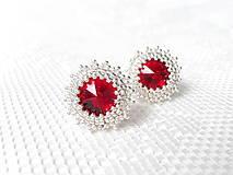 Wild cherries earrings (Rhodium earrings / Swarovski crystal)