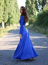 Šaty - Dlhé šaty s kruhovou sukňou - 5905172_