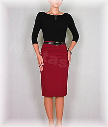 Sukne - Sukne s řasením v pase vz.307(více barev) - 5906097_