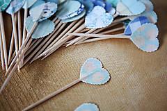 Dekorácie - Napichovátka srdce - svadobná výzdoba - 5905481_