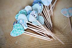 Dekorácie - Napichovátka srdce - svadobná výzdoba - 5905482_