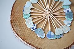 Dekorácie - Napichovátka srdce - svadobná výzdoba - 5905483_