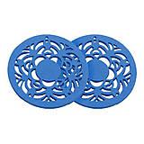 - Drevený kruh, modrý /2ks - 5903091_