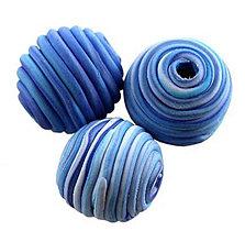 Korálky - Tornádo korálky - modré - 5903236_
