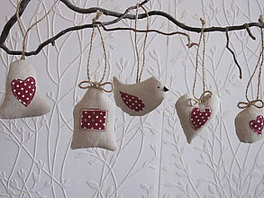 Dekorácie - Vianočné ozdoby s aplikáciou- sada - 5904981_