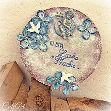 Tabuľky - Láska a šťastie - tabuľka na dvere - 5903835_