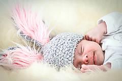 Detské čiapky - roztomilý zajačik-čiapočka na fotenie  - 5903329_