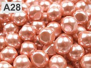 Korálky - Bižutérna voskovaná perla - nugeta - 5905840_