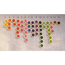 Galantéria - Drevený gombík  (farebný 10 ks) - 5904857_