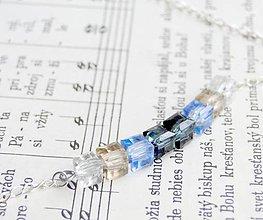 Náhrdelníky - Ice Blue (Cube) #0608 - 5909462_