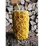 Svietidlá a sviečky - Sviečka - ružičky - 5910356_